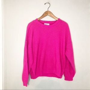 Arielle Vintage Hot Pink Sweater Small / Med RARE!